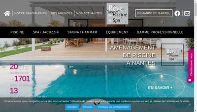 Site internet de Reve de Piscine