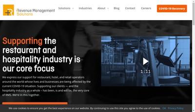 Site internet de Revenue Management Solutions