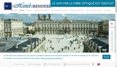 Site internet de Revotel 54