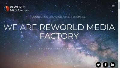 Site internet de Reworld Media Factory
