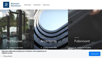 Site internet de Reynaers Aluminium
