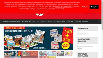 Site internet de Reynald Secher Editions