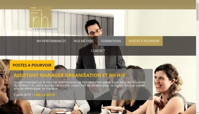 Site internet de RH Performances