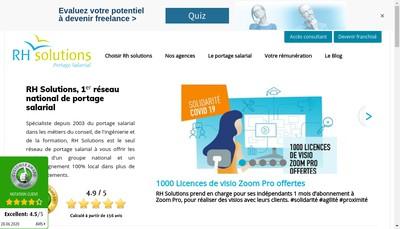 Site internet de Groupe Rh Solutions