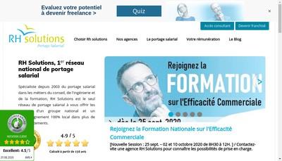 Site internet de Rh Solutions Nancy