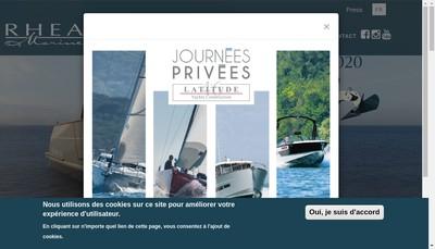 Site internet de Rhea Marine