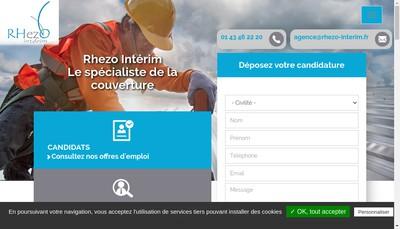Site internet de Rhezo Interim