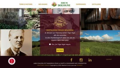 Site internet de Rhum Bologne