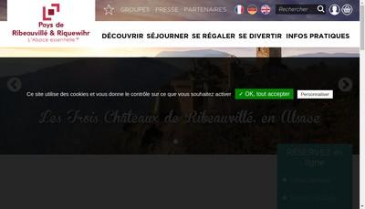 Site internet de Office du Tourisme du Pays de Ribeauville et Riquewihr