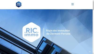 Site internet de Regie des Immeubles de Clermont