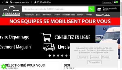 Site internet de Ricard et Fils SARL