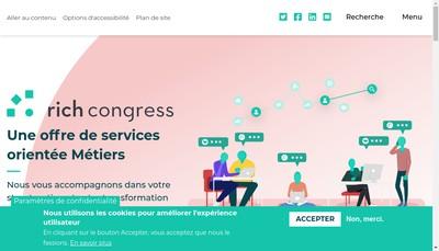 Site internet de Rich Congress