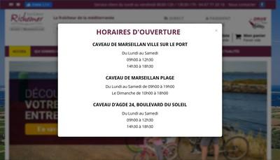 Site internet de Cav les Caves Henri de Richemer