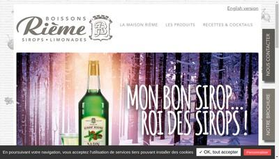 Site internet de Rieme Boissons