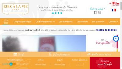 Site internet de Societe Riez a la Vie