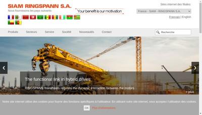 Site internet de Siam-Ringspann SA