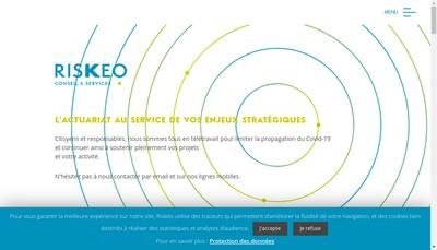 Site internet de Riskeo Conseil & Services