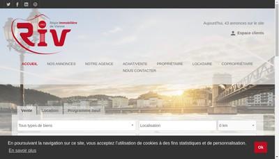 Site internet de Regie Immobiliere de Vienne