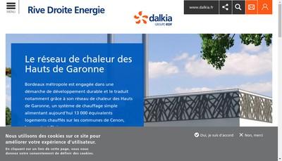 Site internet de Rive Droite Energie