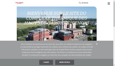 Site internet de Rive Droite Environnement