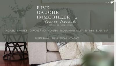 Site internet de Rive Gauche Immobilier