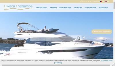 Site internet de Riviera Plaisance