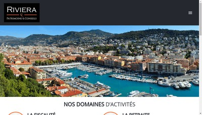 Site internet de Riviera Patrimoine et Conseils