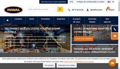 Site internet de Riwal France
