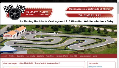 Site internet de Racing Kart Jade
