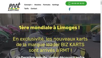 Site internet de Rmt Karting