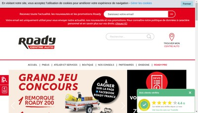 Site internet de Roady