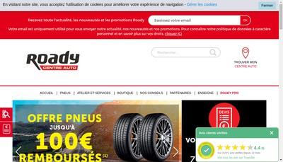 Site internet de Roady