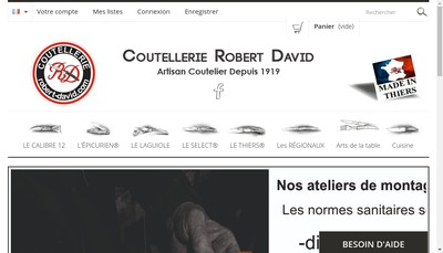 Site internet de Robert David SARL