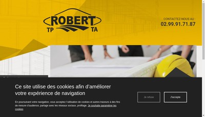 Site internet de SARL Robert
