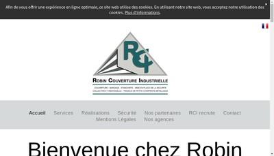 Site internet de Robin Couverture Industrielle