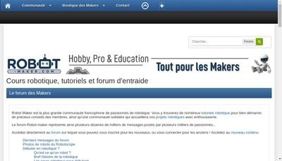 Site internet de Robot Maker