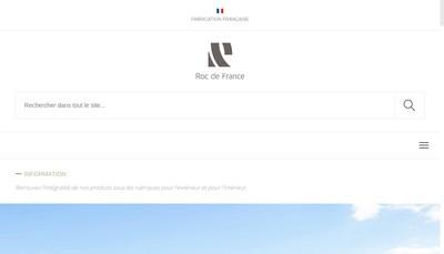Site internet de Roc de France Fabrication