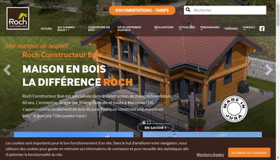 Site internet de Roch - Constructeur Bois