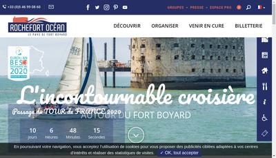 Site internet de Office de Tourisme Rochefort Ocean