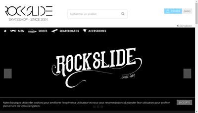 Site internet de Rock Slide