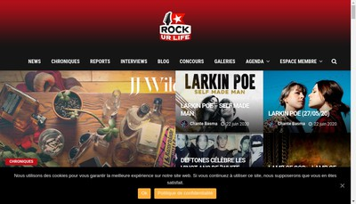 Site internet de Rockurlife