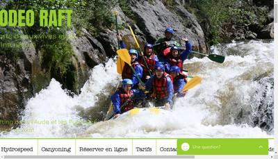Site internet de Rodeo Raft