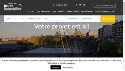 Site internet de Agence Immobiliere Benoit Druot
