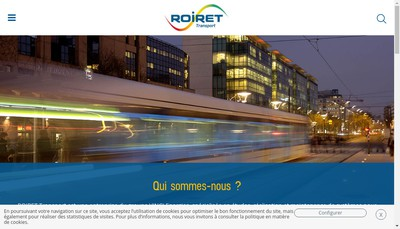 Site internet de Roiret Transport