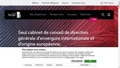 Site internet de Roland Berger Gmbh
