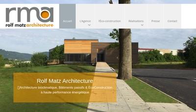 Site internet de Rolf Matz Architecture