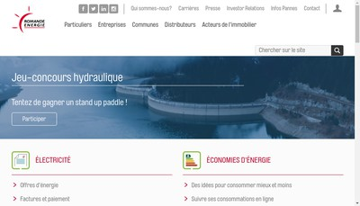 Site internet de Romande Energie France