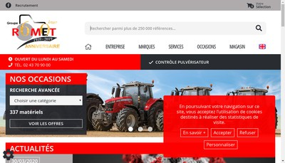 Site internet de Rom-Agri