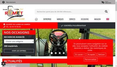 Site internet de Romet Motoculture