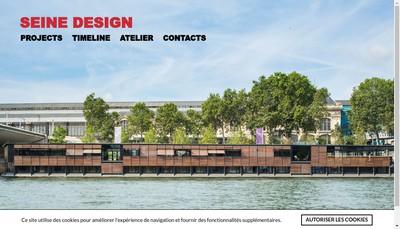 Site internet de Seine Design
